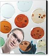 Microbiology Research Canvas Print by Tek Image