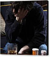 Depression And Addiction Canvas Print by Photo Researchers, Inc.