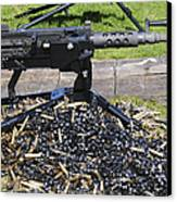 A .50 Caliber Browning Machine Gun Canvas Print by Andrew Chittock