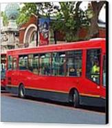A Bevy Of Buses Canvas Print by Anna Villarreal Garbis