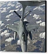 A Chilean Air Force F-16 Refuels Canvas Print by Giovanni Colla