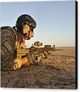 A Combat Rescue Officer Provides Canvas Print by Stocktrek Images