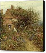 A Cottage Near Brook Witley Surrey Canvas Print by Helen Allingham