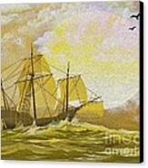 A Day At Sea Canvas Print by Cheryl Young