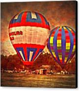 A Day At The Rally Canvas Print by Kathy Jennings