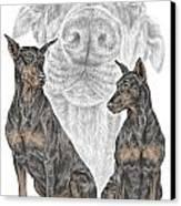 A Doberman Knows - Dobe Pinscher Dog Art Print Canvas Print by Kelli Swan