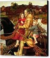 A Dream Of The Past Canvas Print by Sir John Everett Millais