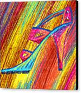 A High Heel Canvas Print by Kenal Louis