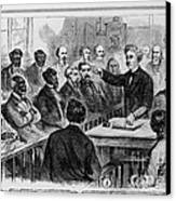 A Jury Of Whites And Blacks Canvas Print by Photo Researchers