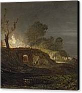 A Lime Kiln At Coalbrookdale Canvas Print by Joseph Mallord William Turner