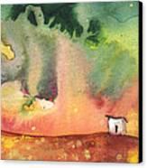 A Little House On Planet Goodaboom Canvas Print by Miki De Goodaboom