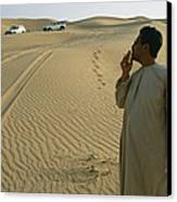 A Local Guide Muses That This Area Canvas Print by Stephen Alvarez