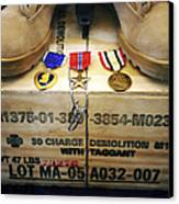 A Memorial Dedicated To An Airman Who Canvas Print by Stocktrek Images