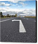 A Metalled Road With A Large Canvas Print by Jaak Nilson