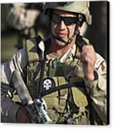 A Military Reserve Navy Seal Gives Canvas Print by Michael Wood
