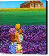 A Moment - Crop Of Original - To See Complete Artwork Click View All Canvas Print by Anne Klar