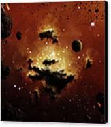 A Nebula Evaporates In The Far Distance Canvas Print by Brian Christensen