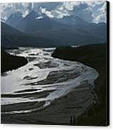 A Scenic View Of The Matanuska River Canvas Print by George F. Herben