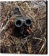 A Scout Observer Practices Observation Canvas Print by Stocktrek Images