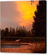 A Small Vineyard And Fine Hotel Canvas Print by Michael S. Lewis