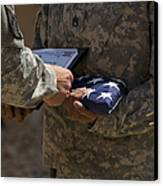 A Soldier Is Presented The American Canvas Print by Stocktrek Images
