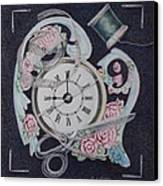 A Stitch In Time Canvas Print by Patsy Sharpe