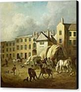 A Town Scene  Canvas Print by George Garrard