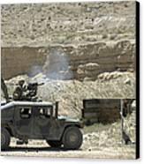 A U.s. Marine Fires A Mark 19-3 40mm Canvas Print by Stocktrek Images