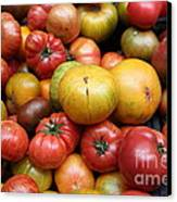 A Variety Of Fresh Tomatoes - 5d17840 Canvas Print by Wingsdomain Art and Photography