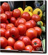 A Variety Of Fresh Tomatoes Zucchinis And Artichokes - 5d17818 Canvas Print by Wingsdomain Art and Photography