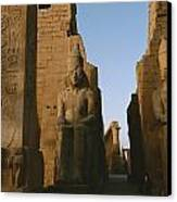 A View Of Luxor Temple Canvas Print by Kenneth Garrett