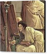A Visit To The Studio Canvas Print by Sir Lawrence Alma-Tadema