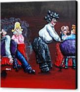 A Waiter's Revenge - Silent But Deadly Canvas Print by Alison  Galvan
