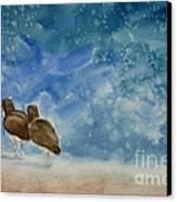 A Walk On The Beach Canvas Print by Estephy Sabin Figueroa