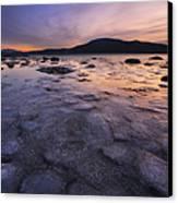 A Winter Sunset At Evenskjer In Troms Canvas Print by Arild Heitmann