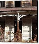 Abandoned House Facade Rusty Porch Roof Canvas Print by John Stephens