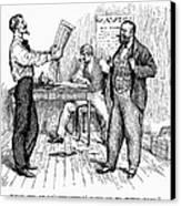 Abolitionist Newspaper Canvas Print by Granger