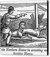 Abolitionist Political Cartoon Canvas Print by Everett