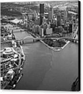 Above Pittsburgh  Canvas Print by Emmanuel Panagiotakis