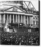 Abraham Lincolns First Inauguration - March 4 1861 Canvas Print by International  Images