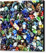 Abstract - Colored Glass Characters Canvas Print by Paul Ward