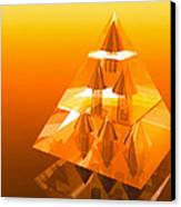 Abstract Computer Artwork Of A Pyramid Of Arrows Canvas Print by Laguna Design