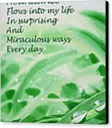Abundance Affirmation Canvas Print by Irina Sztukowski