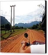 Adventure Motorbike Trip In Laos Canvas Print by Thepurpledoor