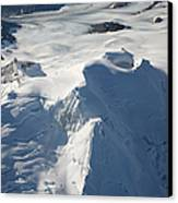Aerial View Of Glaciated Mount Douglas Canvas Print by Richard Roscoe