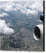 Aerial View Of Landscape Canvas Print by Shannon Fagan