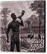 African American Blowing The Wake-up Canvas Print by Everett