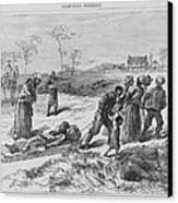 African American Gathering The Dead Canvas Print by Everett