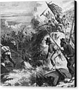 African American Soldiers In A Civil Canvas Print by Everett