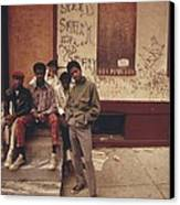 African American Teenage Street Gang Canvas Print by Everett